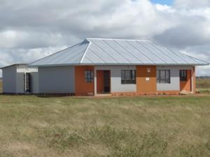 Das neue Wohnhaus für zwei Lehrerfamilien
